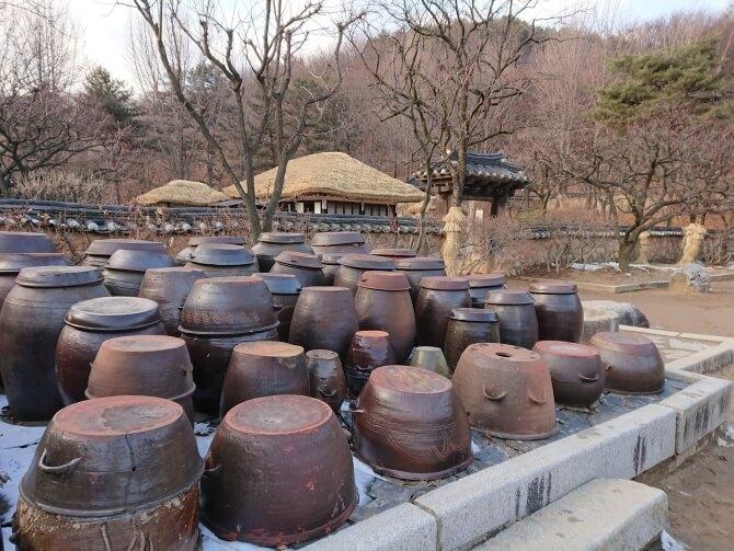 韓国民俗村の風景
