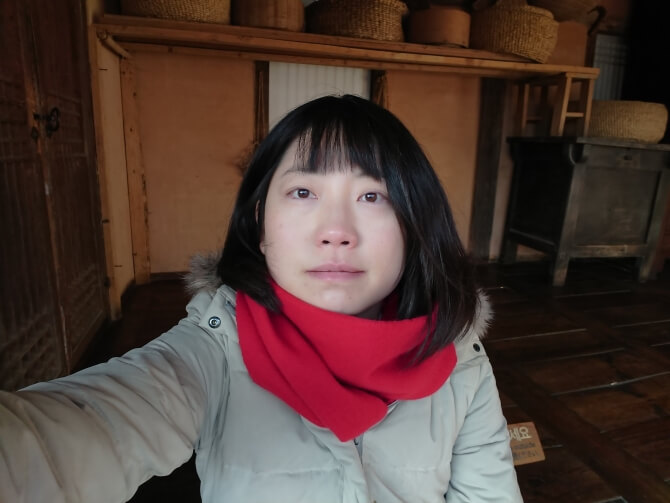 韓国民俗村で私の写真