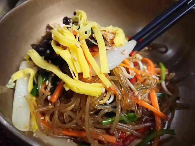 韓国の正月料理:チャプチェの写真
