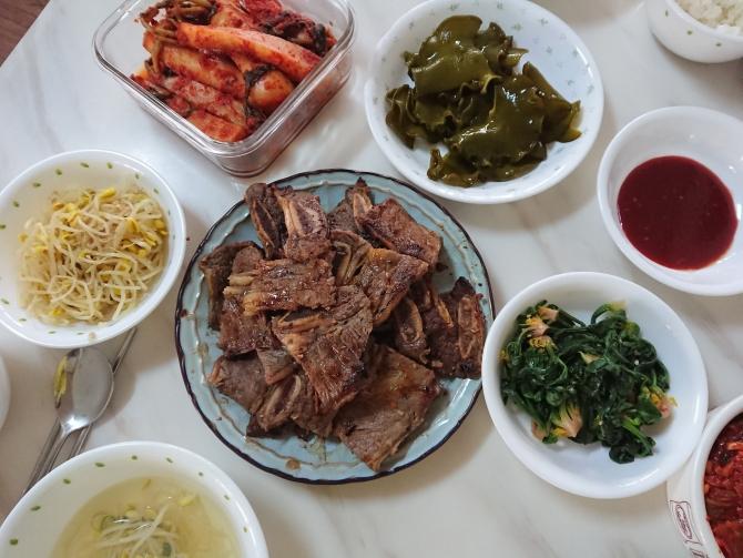 韓国の正月料理:カルビの写真