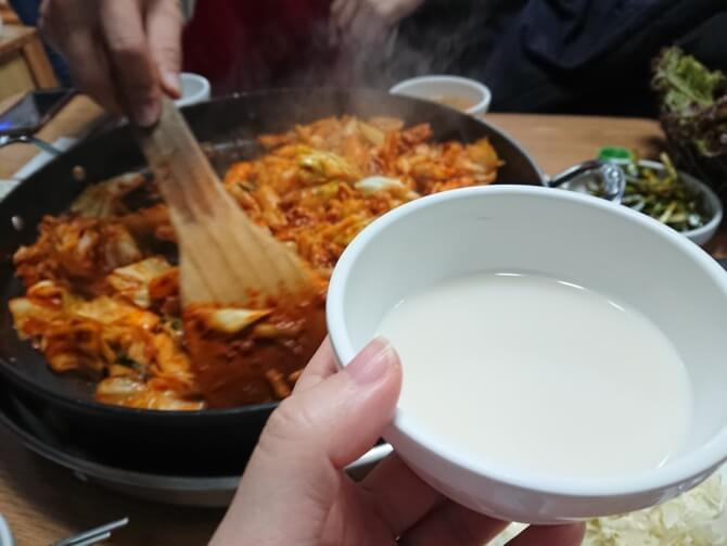 ソウルのチーズタッカルビ、オススメのお店の写真