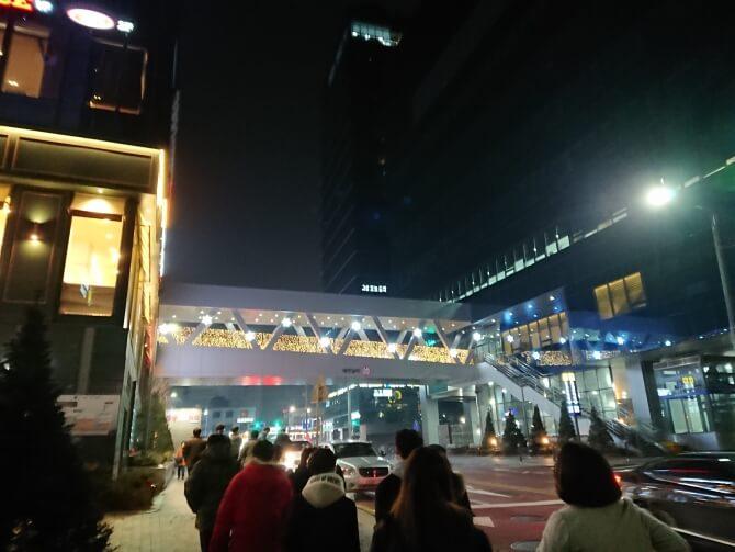 韓国の町の風景