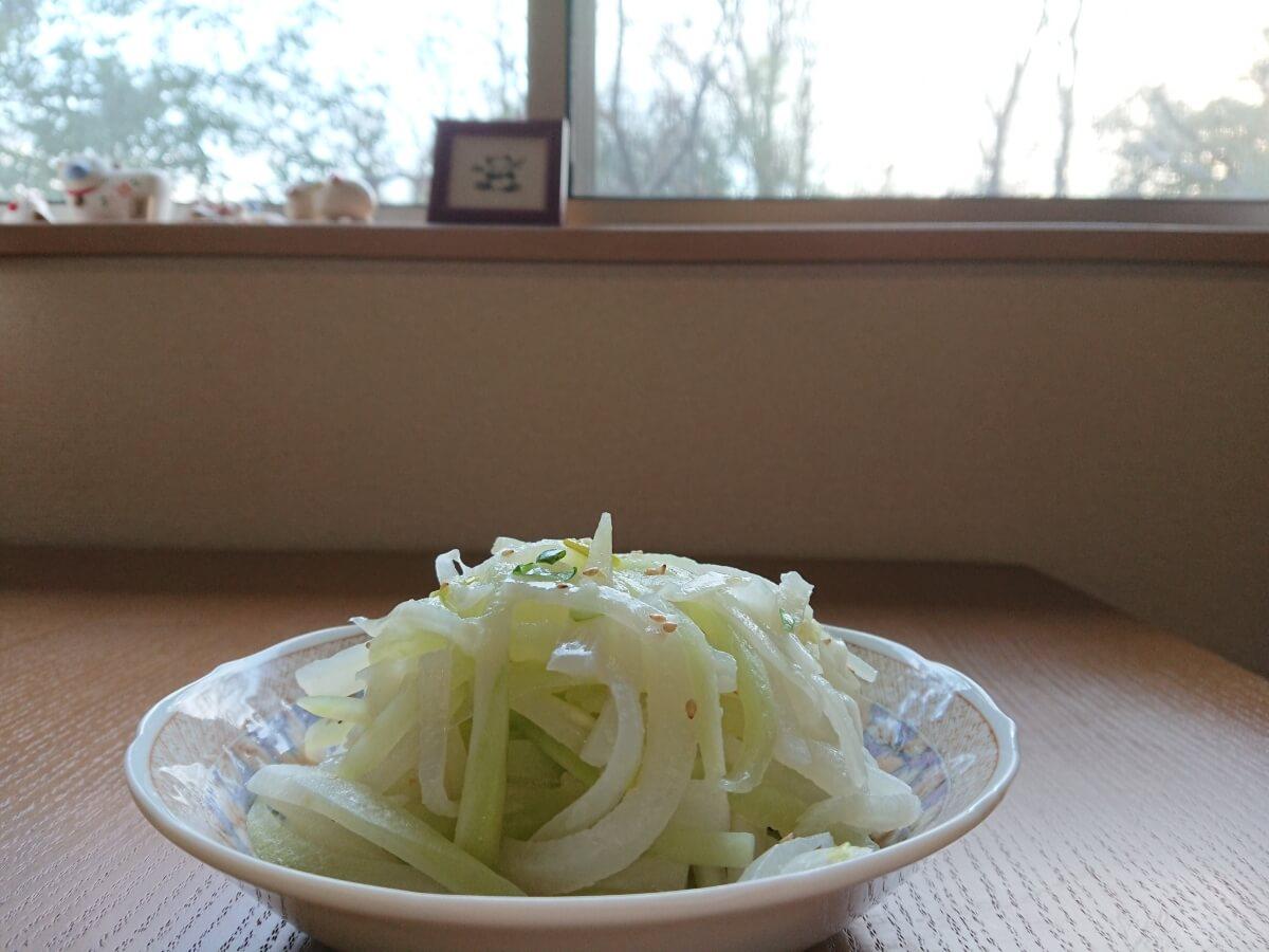 大根のナムルのレシピ。完成写真