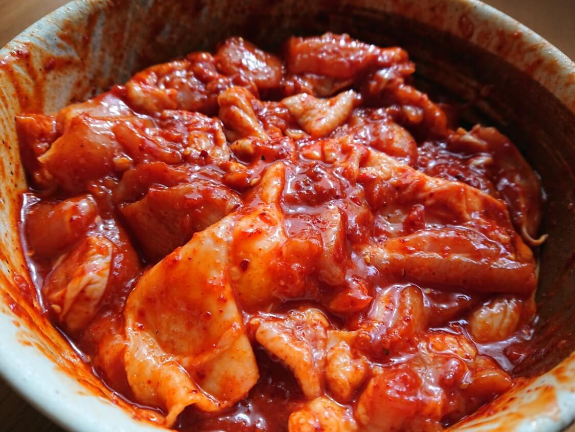 チーズタッカルビの韓国人気レシピ。調味料(ヤンニョム)