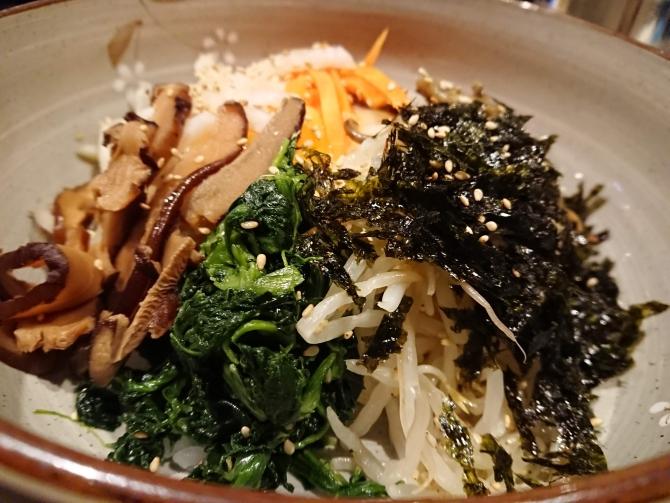 西新宿で人気の韓国料理屋さん「韓感」のビビンバ