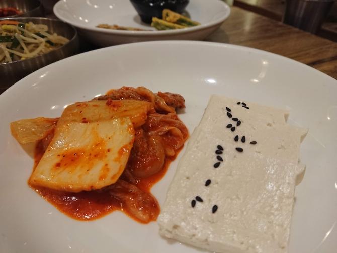 おかずがいっぱい、ソウルの韓定食