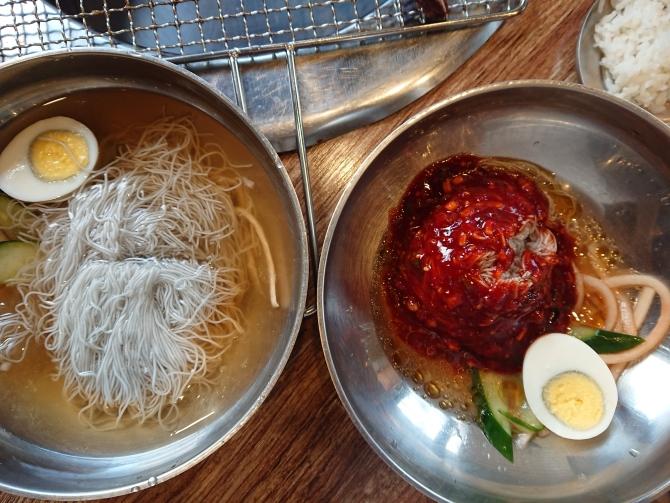 ビビン冷麺と水冷麺