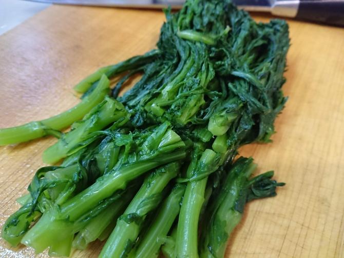 春菊ナムルの作り方4