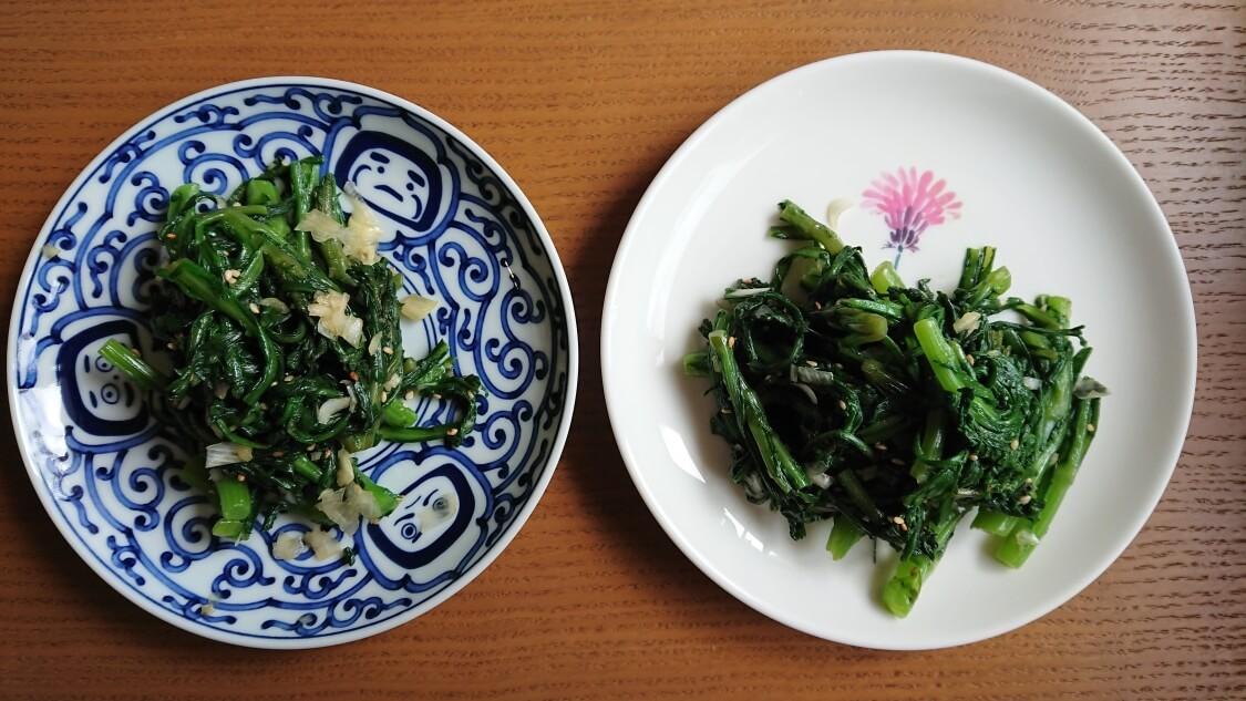 春菊のナムルの韓国レシピ