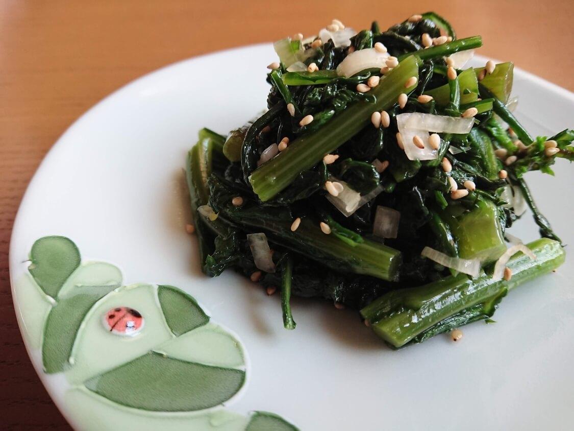 春菊のナムルのレシピ
