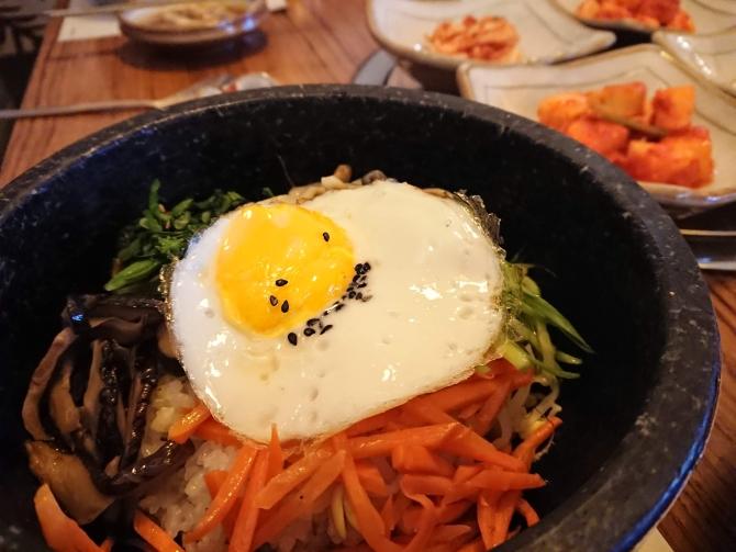 仁川の松島(ソンド)新都市で食事写真:ビビンバ