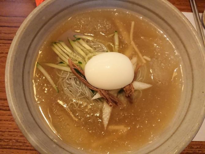 仁川の松島(ソンド)新都市で食事写真:冷麺