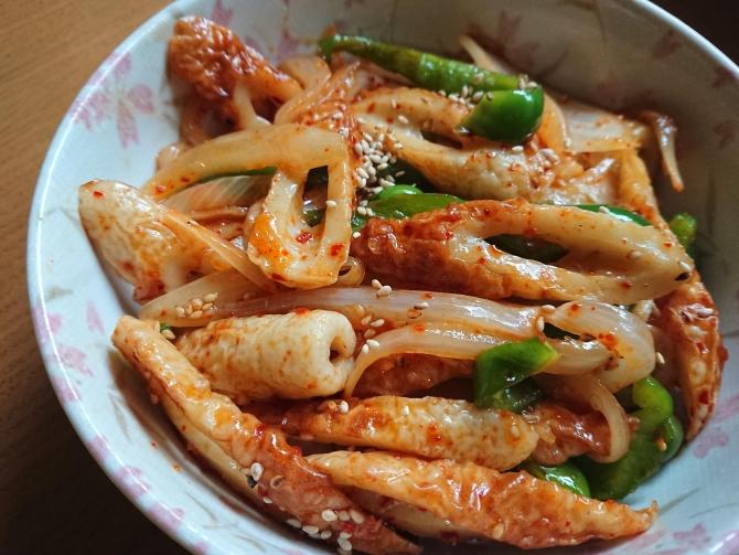 ちくわの甘辛炒めのレシピ写真