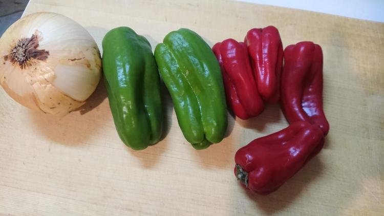 プルコギに入れる野菜の写真