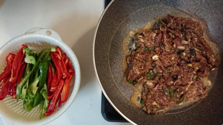 野菜たっぷりプルコギのレシピ写真