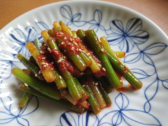 ニンニクの芽キムチのレシピ写真