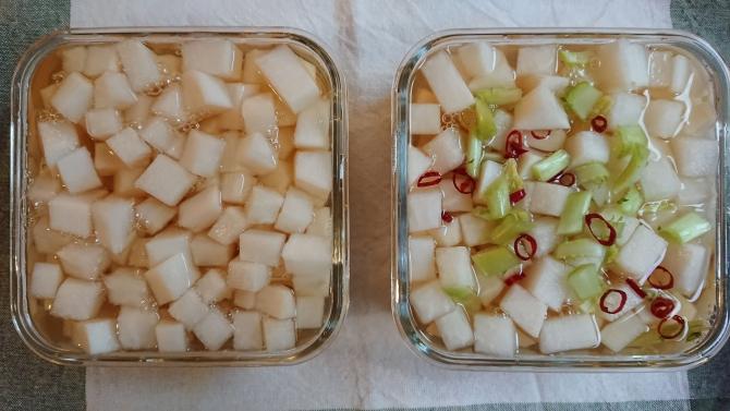 大根の甘酢漬け(韓国のチキンム)のレシピ写真