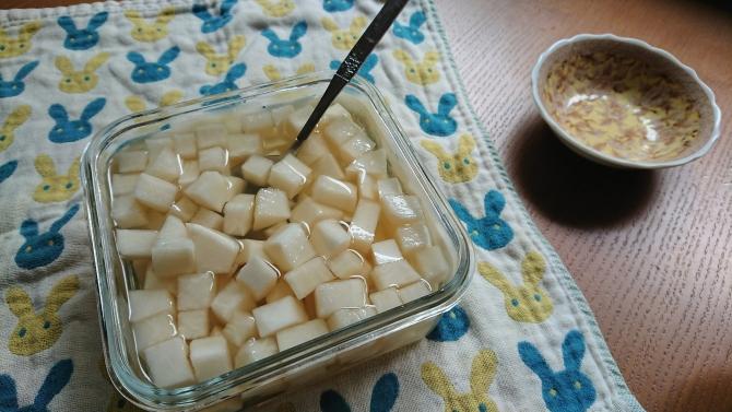 大根の甘酢漬け(韓国のチキンム)の写真