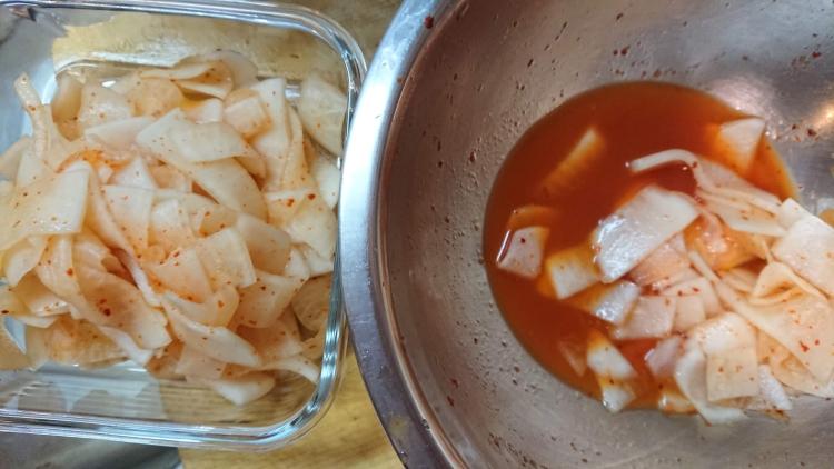大根の酢漬けのレシピ写真