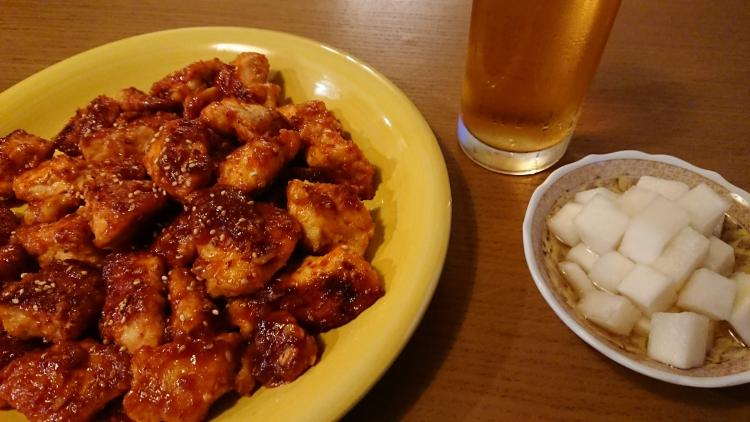 ヤンニョムチキンのレシピの完成写真