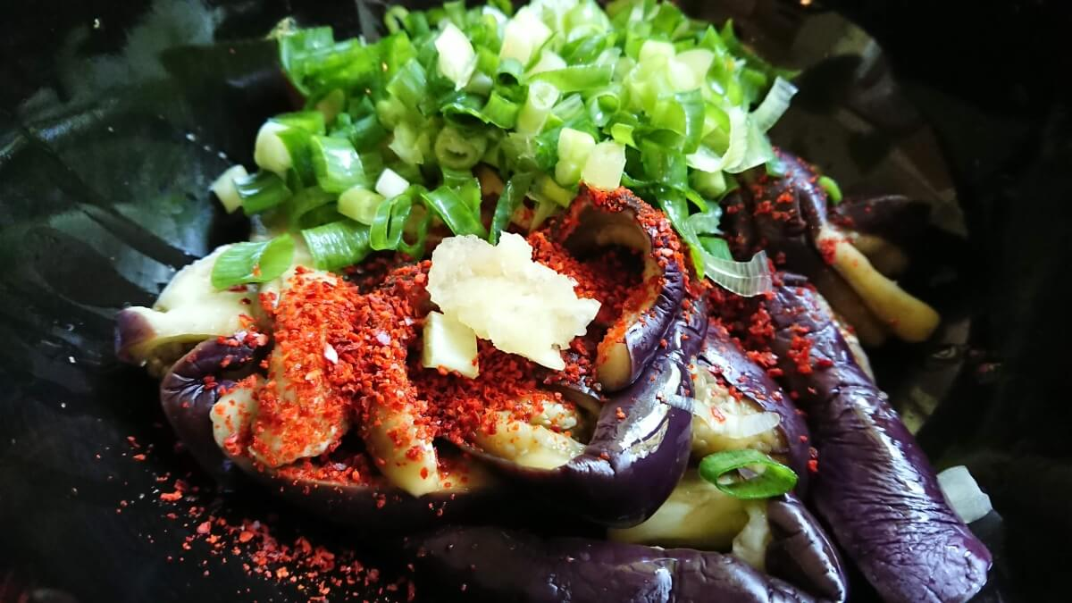 茄子のナムルのレシピ