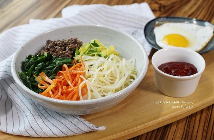 비빔밥 만들기, 양념장 레시피까지. 맛있게 비벼먹기(Naver Blog)