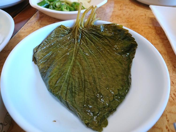 韓国のうなぎ屋さんで食べた料理写真