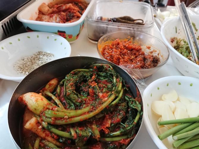 ソウルの実家で焼肉パーティーの写真