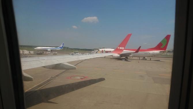 ティーウェイ機体の写真
