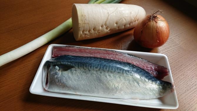 鯖の煮付けの材料