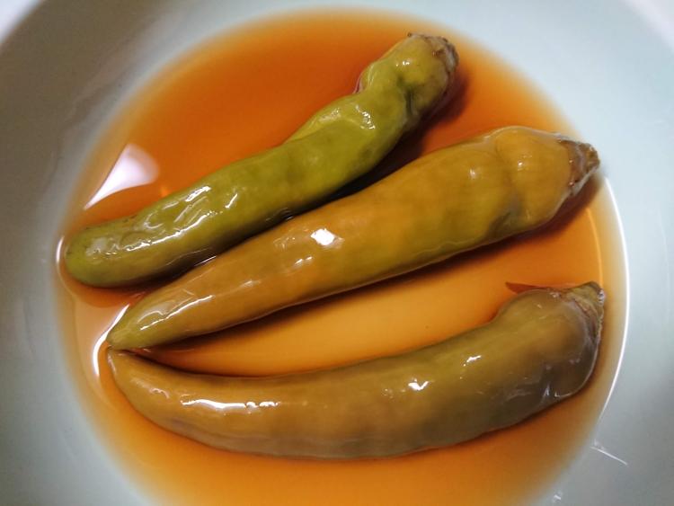 青唐辛子の醤油漬けの写真