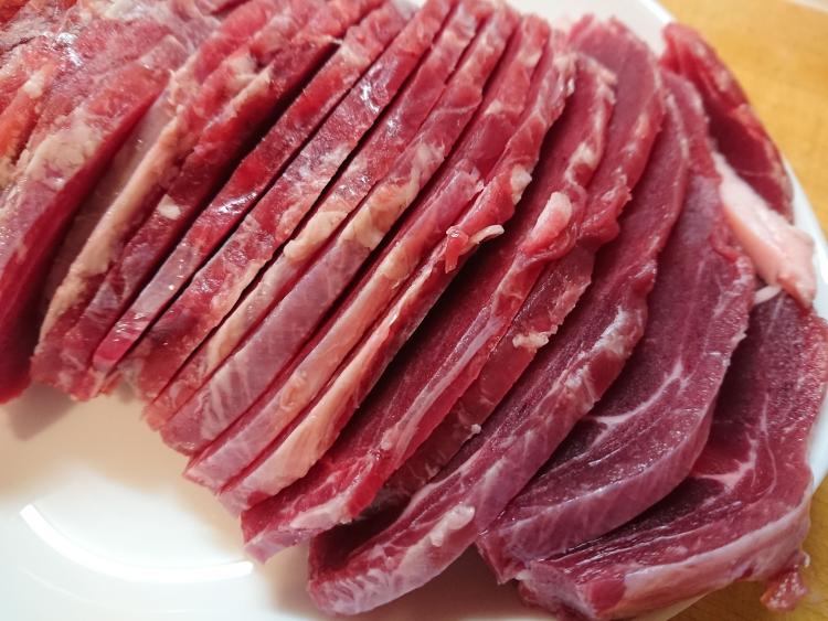 猪肉の切り方写真