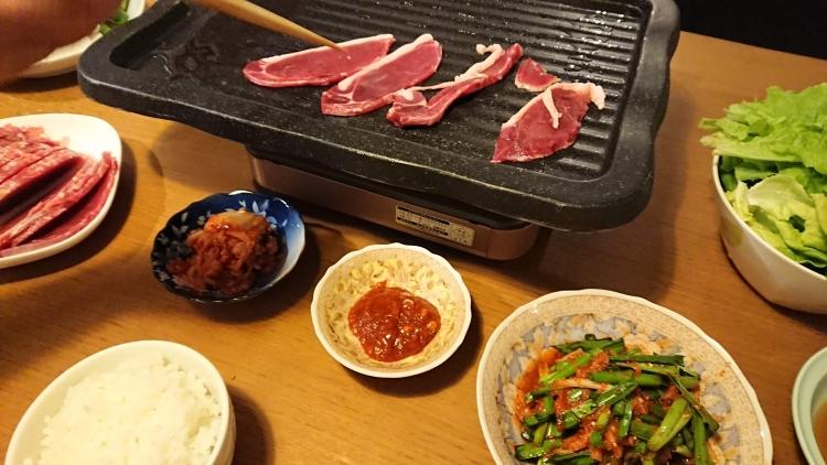 猪肉の焼肉写真