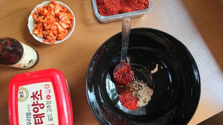 韓国ビビン麺のレシピ写真