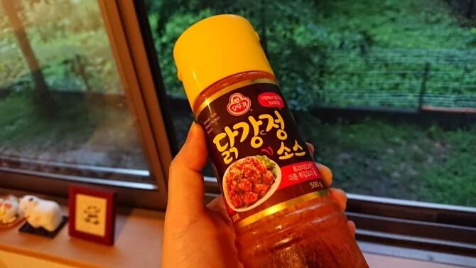 韓国のスーパーで購入した調味料・食べ物の写真:ヤンニョムチキンのソース