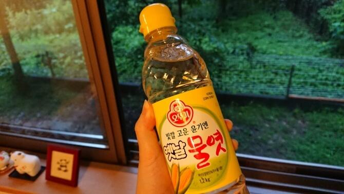 韓国のスーパーで購入した調味料・食べ物の写真:水飴、オリゴ糖