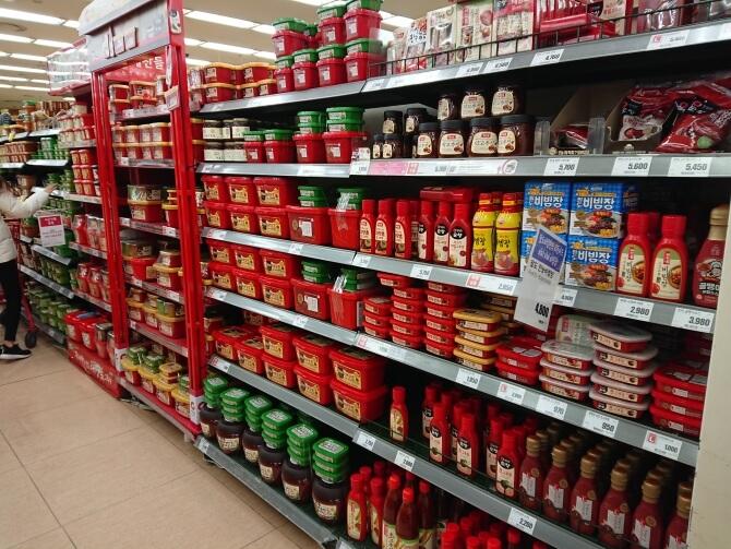 韓国のスーパーで購入した調味料・食べ物の写真:サムジャン