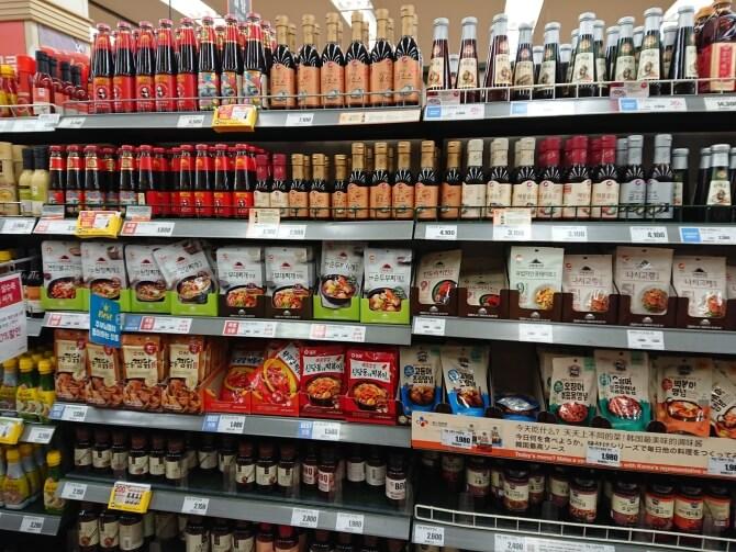 韓国のスーパーで購入した調味料・食べ物の写真:チムタクのソース