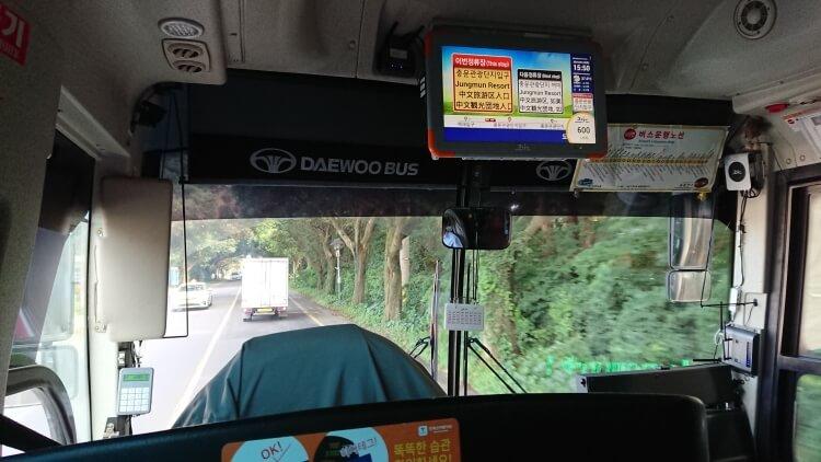 チェジュ島旅②:ロッテホテルのバス写真