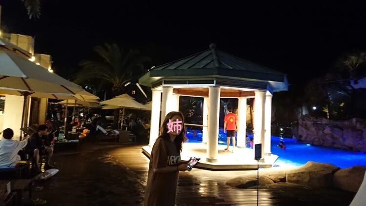 チェジュ島旅②:ロッテホテルの夜景写真