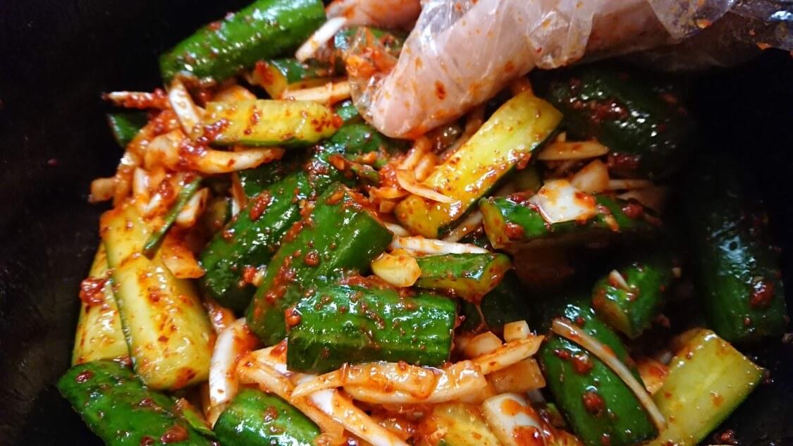 きゅうりキムチ(オイキムチ)の本格レシピ。ヤンニョム