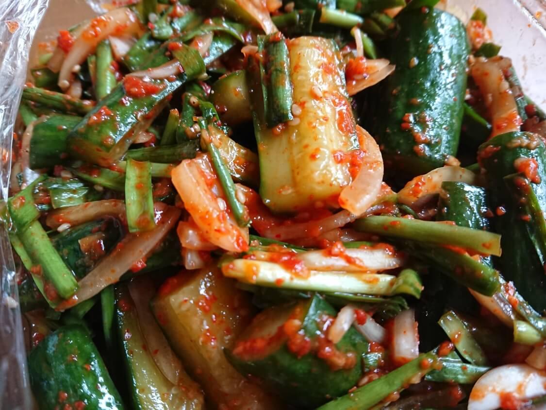 きゅうりキムチ(オイキムチ)の本格レシピ。作り置き