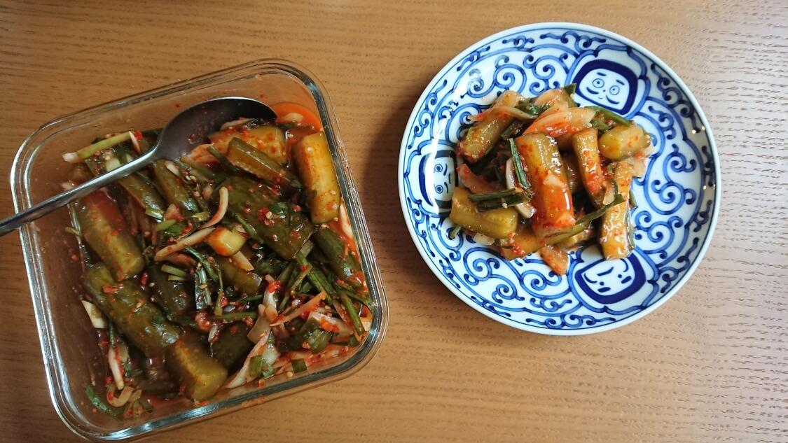きゅうりキムチ(オイキムチ)の本格レシピ。熟成期間