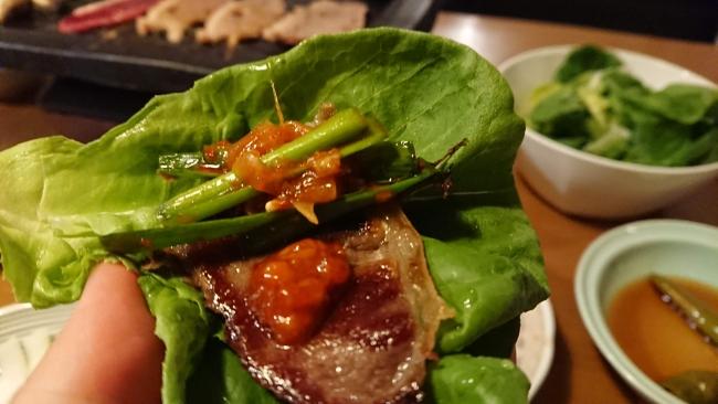 ニラキムチの食べ方写真