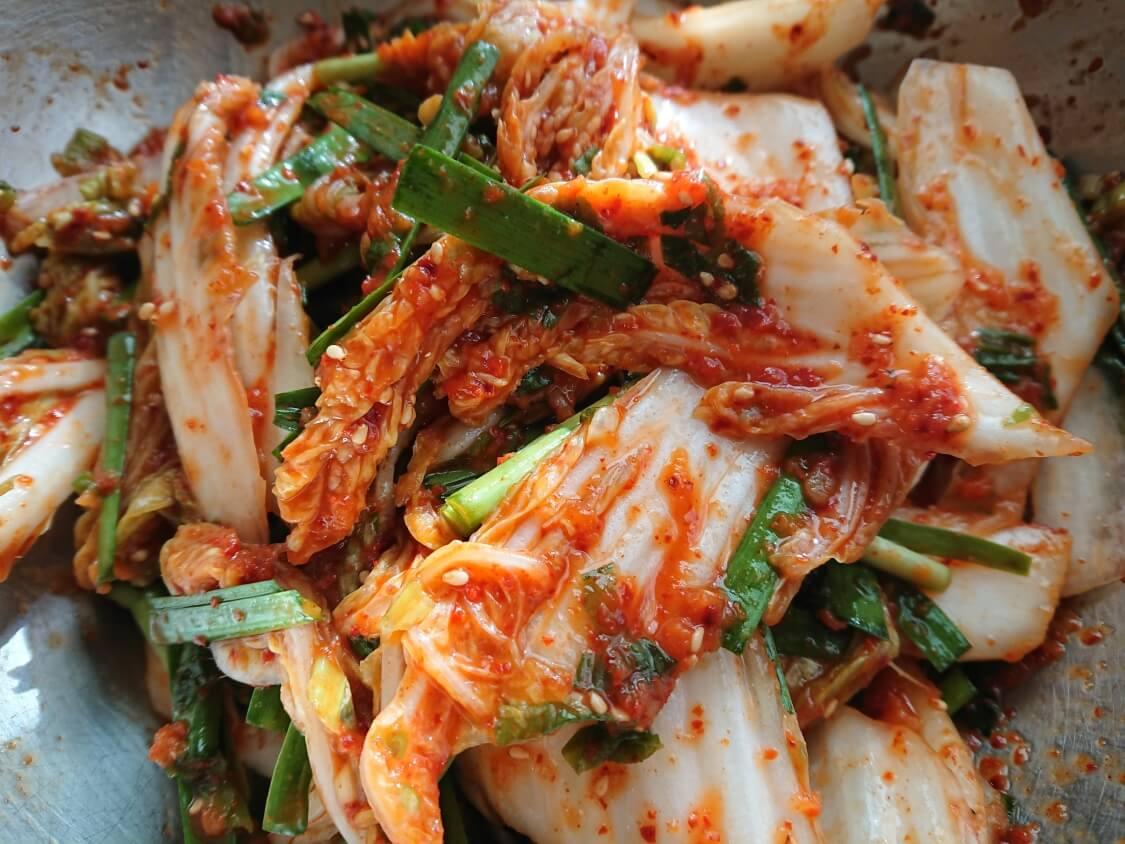 白菜キムチ(韓国式浅漬けコッチョリ)の完成