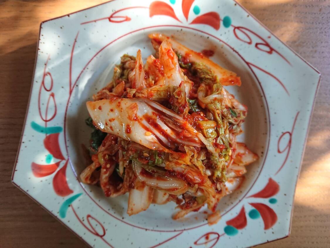 白菜キムチ(韓国式浅漬けコッチョリ)の盛り付け