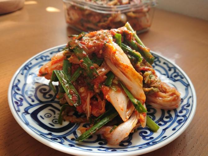 白菜の浅漬けキムチ(コッチョリ)の韓国レシピの完成