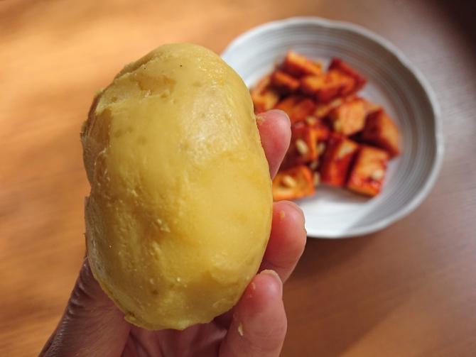 甘辛ヤンニョムチキン味の厚揚げの写真