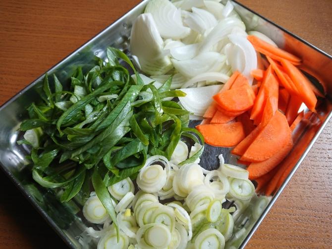 イカの旨辛炒め(オジンオポックム)の韓国レシピの材料