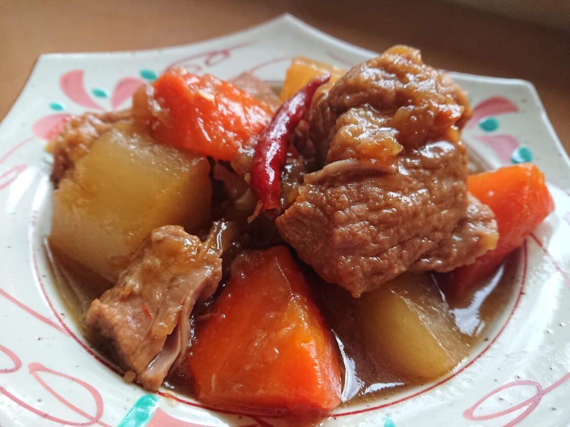 韓国料理カルビチムの簡単レシピ。完成